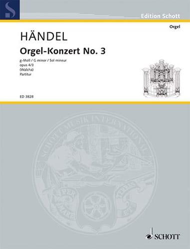 Orgel-Konzert Nr. 3 g-Moll op. 4/3 - HAENDEL - laflutedepan.com
