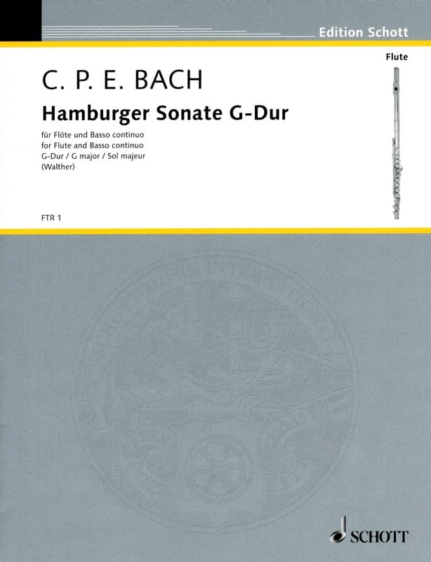 Carl Philipp Emanuel Bach - Hamburger Sonate - Partition - di-arezzo.com