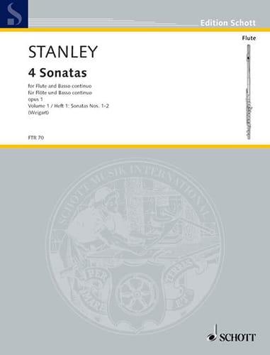 4 Sonaten - Bd. 1 - Flöte und Bc - John Stanley - laflutedepan.com