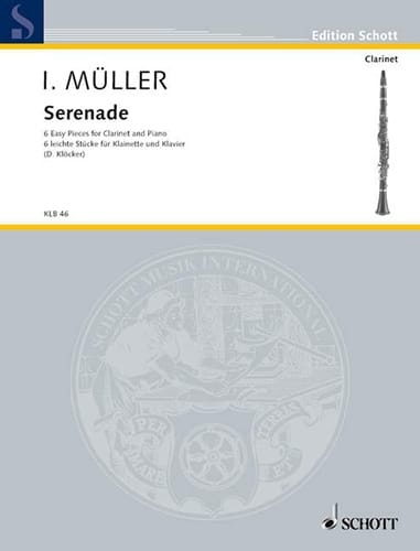 Iwan Müller - Serenade - Clarinet and Piano - Partition - di-arezzo.co.uk
