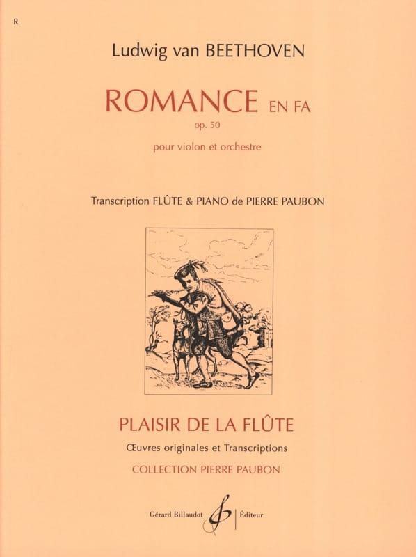 BEETHOVEN - Romance in Fa op. 50 - Piano flute - Partition - di-arezzo.co.uk