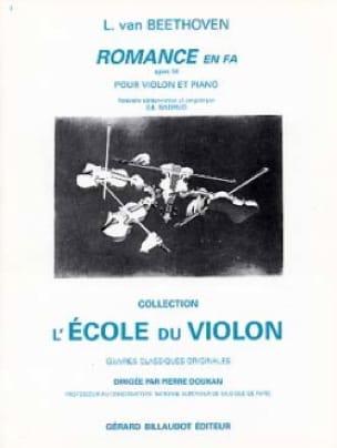 Romance en fa op. 50 - BEETHOVEN - Partition - laflutedepan.com