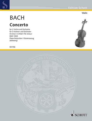 BACH - Concerto d-moll BWV 1043 Violinen Klavier - Partition - di-arezzo.com