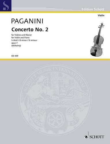 Concerto Violon N° 2 Si Mineur Opus 7 - PAGANINI - laflutedepan.com