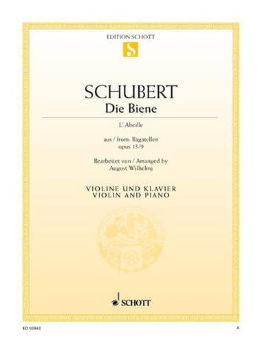 SCHUBERT - Die Biene The Bee - Partition - di-arezzo.co.uk
