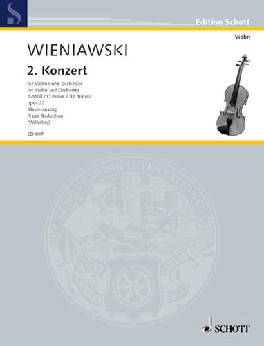 WIENIAWSKI - Concerto in D minor op. 22 - Partition - di-arezzo.co.uk
