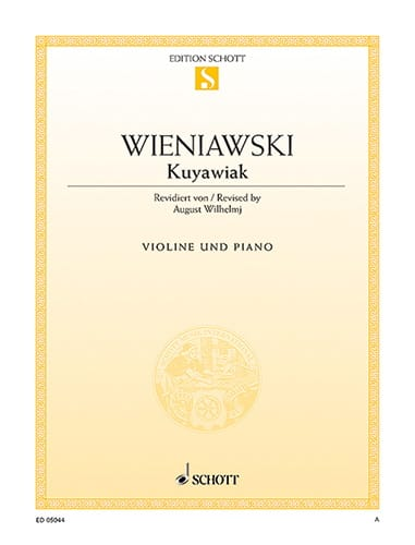 Kuyawiak op. 2 - WIENAWSKI - Partition - Violon - laflutedepan.com