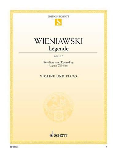 Légende - Opus 17 - WIENAWSKI - Partition - Violon - laflutedepan.com