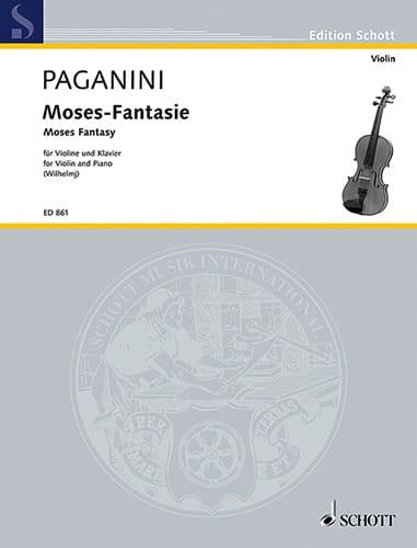 Moses-Fantasie - PAGANINI - Partition - Violon - laflutedepan.com