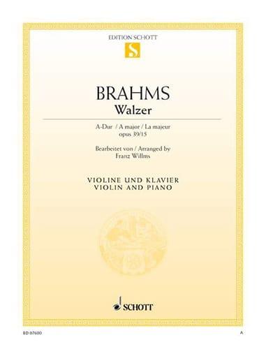 Walzer A-Dur, op. 39 n° 15 - BRAHMS - Partition - laflutedepan.com