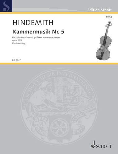 Kammermusik Nr. 5, op. 36 n° 4 - HINDEMITH - laflutedepan.com