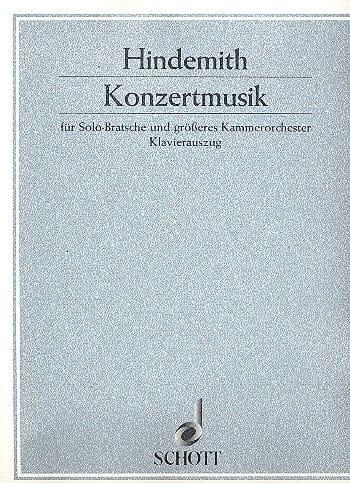 Konzertmusik op. 48 - HINDEMITH - Partition - Alto - laflutedepan.com