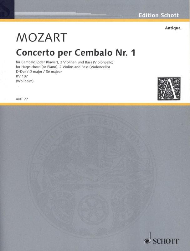 MOZART - Cembalo-Konzert Nr. 1 D-Dur - Stimmen - Partition - di-arezzo.com