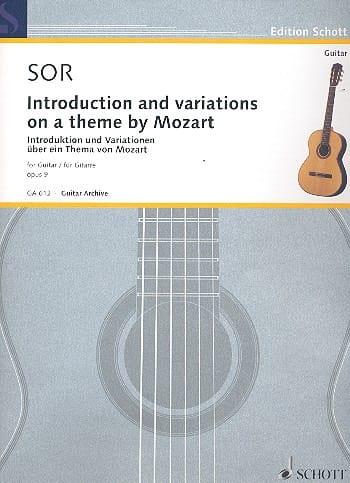 Introduktion und Variationen op. 9 - Fernando Sor - laflutedepan.com