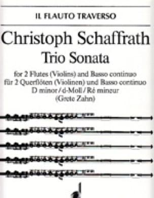 Christoph Schaffrath - Sonata Trio d-moll - 2 Flöten Violinen Bc - Partition - di-arezzo.com