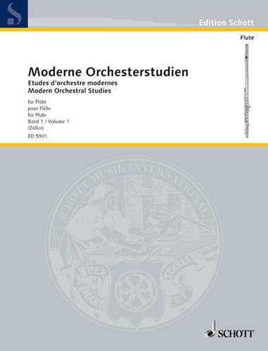 - Modern Orchesterstudien volume 1 - Flute - Partition - di-arezzo.co.uk