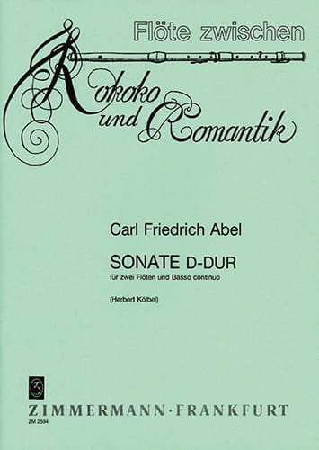 Sonate D-Dur -2 Flöten Bc - Carl Friedrich Abel - laflutedepan.com