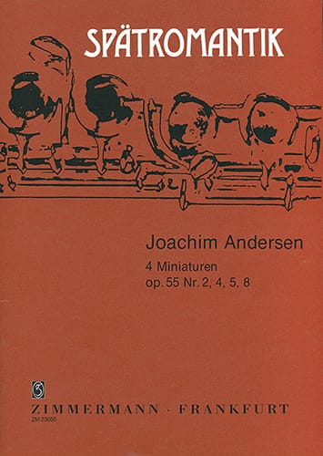 Joachim Andersen - 4 Miniaturen op. 55 n° 2, 4, 5, 8 - Partition - di-arezzo.fr