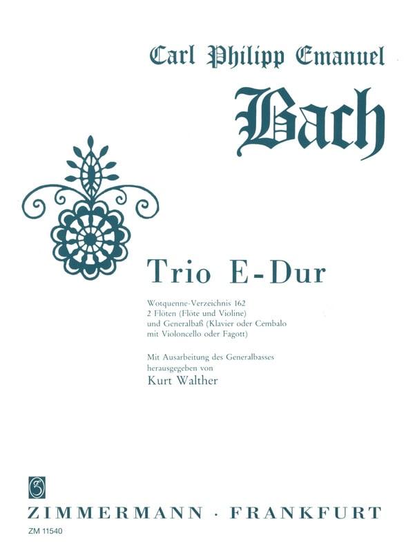 Trio en Mi Majeur Wq 162 - laflutedepan.com