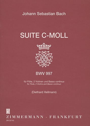 Suite c-moll BWV 997 -Flöte 2 Violinen BC - BACH - laflutedepan.com