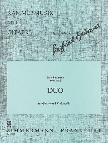 Duo op. 62 - Max Baumann - Partition - 0 - laflutedepan.com