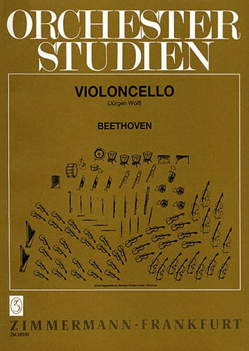 Orchesterstudien - Cello - BEETHOVEN - Partition - laflutedepan.com