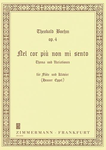 Theobald Boehm - Nel cor più not mi sento op. 4 - Flöte Klavier - Partition - di-arezzo.co.uk