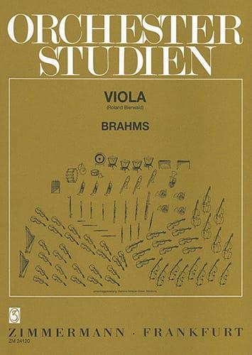 Orchesterstudien - Viola - BRAHMS - Partition - laflutedepan.com
