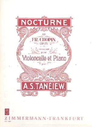Nocturne Op. 72 - CHOPIN - Partition - Violoncelle - laflutedepan.com