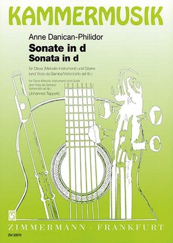 Sonate d-Moll - Anne Danican-Philidor - Partition - laflutedepan.com