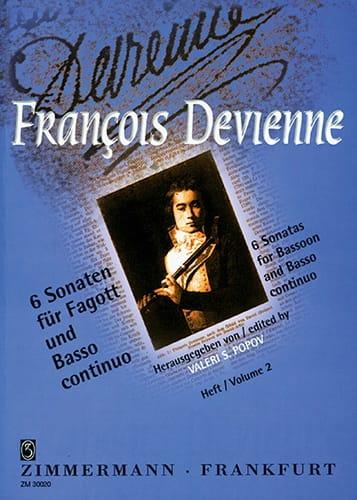 François Devienne - 6 Sonaten Heft 2 - Fagott und BC - Partition - di-arezzo.com