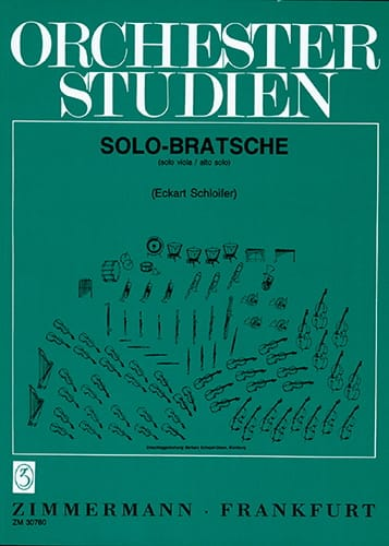 Orchesterstudien Viola für Solo-Bratschisten - laflutedepan.com