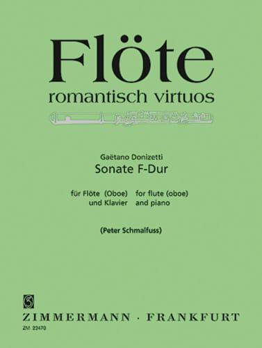 Gaetano Donizetti - Sonata F-Dur - Flöte Oboe u. Klavier - Partition - di-arezzo.co.uk