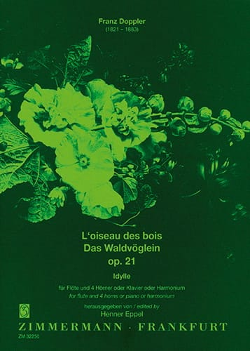L'oiseau des bois op. 21 -Flöte 4 Hörner o. Klavier - laflutedepan.com