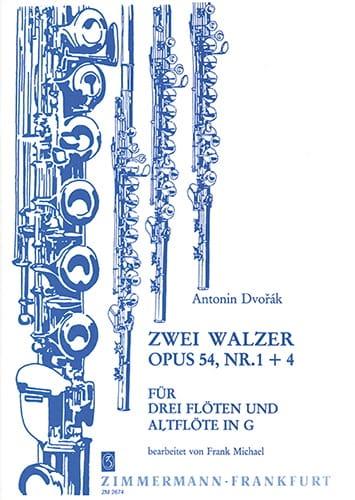 2 Walzer op. 54 Nr. 1 und 4 - 4 Flöten - DVORAK - laflutedepan.com