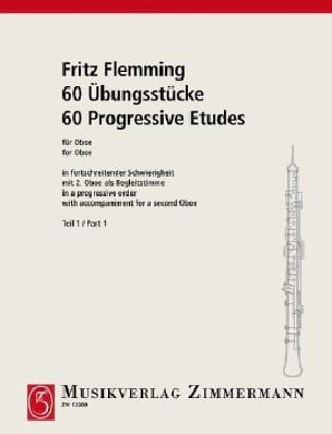 60 Ubungsstücke Für Oboe Volume 1 - Fritz Flemming - laflutedepan.com