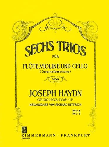 HAYDN - 6 Trios Op.100 Volume 1 - Partition - di-arezzo.com