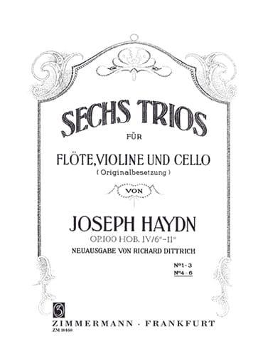 HAYDN - 6 Trios Op.100 Vol.2 - Partition - di-arezzo.com