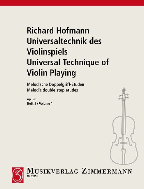 Richard Hofmann - Melodische Doppelgriff-Etüden Op.96 Volume 1 - Partition - di-arezzo.co.uk