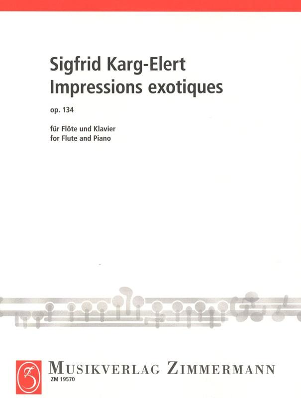 Sigfrid Karg-Elert - Exotic Prints Op. 134 - Partition - di-arezzo.com