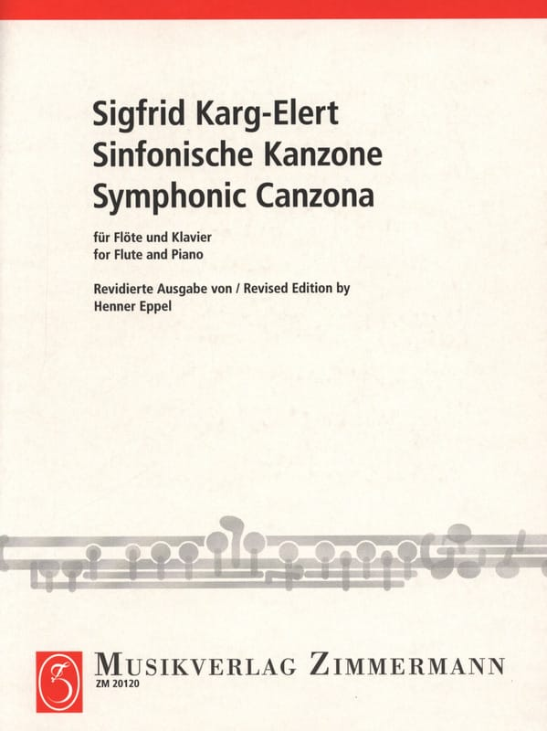 Sigfrid Karg-Elert - Sinfonische Kanzone - Partition - di-arezzo.com