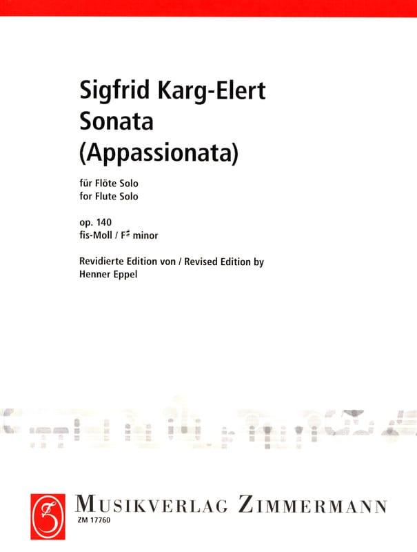 Sigfrid Karg-Elert - Sonata appassionata op. 140 - Solo flute - Partition - di-arezzo.co.uk