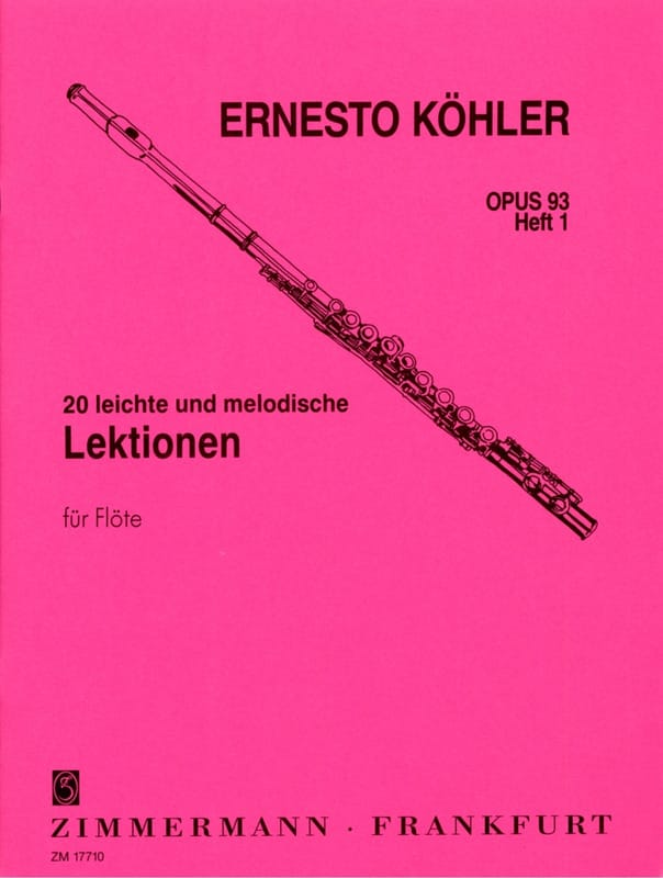 Ernesto KÖHLER - 20 Leichte and Melodische Lektionen Op 93 Vol 1 - Partition - di-arezzo.co.uk