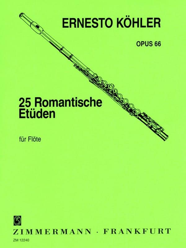 Ernesto KÖHLER - 25 Romantische Etüden op. 66 - Partition - di-arezzo.co.uk