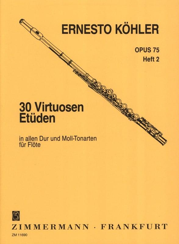 Ernesto KÖHLER - 30 Virtuosen-Etüden op. 75 - Heft 2 - Partition - di-arezzo.de