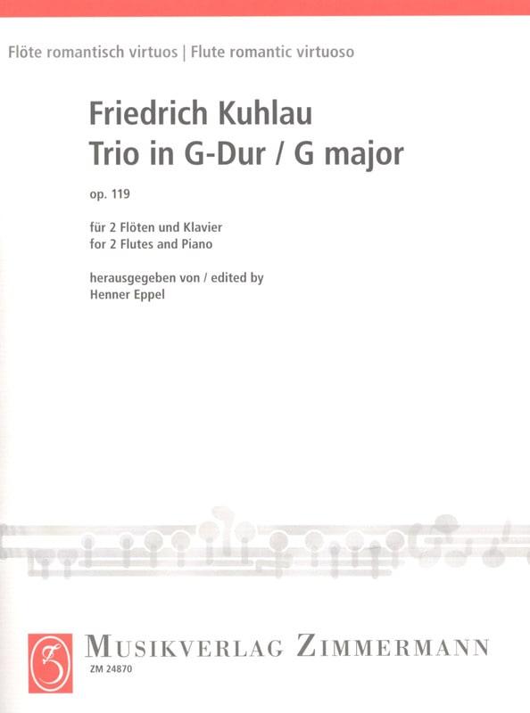 Friedrich Kuhlau - Trio in G Major Op 119 - Partition - di-arezzo.com