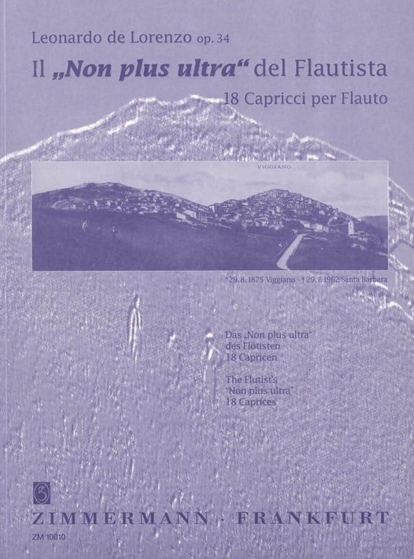Leonardo de Lorenzo - No más ultra del Flautista op. 34 - Partition - di-arezzo.es