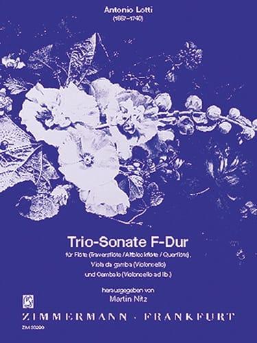 Triosonate F-Dur - Flöte Viola da g. Cembalo - laflutedepan.com