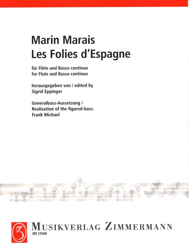 Les Folies d' Espagne - Marin Marais - Partition - laflutedepan.com