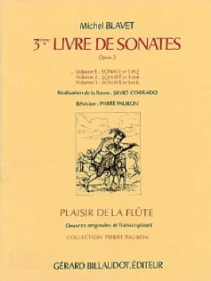 Michel Blavet - Sonatas Op.3 Nr. 1 and 2 - Volume 1 - Partition - di-arezzo.co.uk